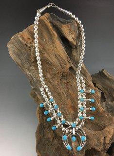 Navajo Phil Garcia Squash Blossom Necklace Earrings Set
