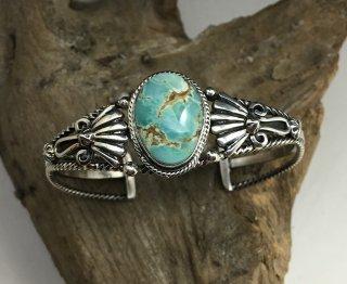 Navajo Harold Tahe Royston Turquoise Cuff Bracelet