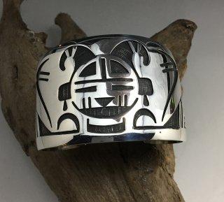Hopi Stewart Tewawina Dacawyma Overlay Bracelet