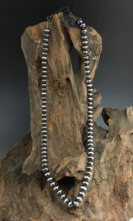 Navajo Sandra Zambroano Silver Beads Necklace