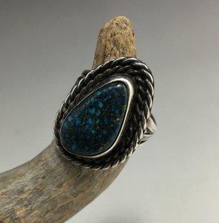 Navajo Natural Lander Blue Turquoise '70,s Vintage Ring