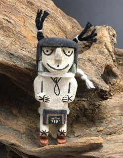 Hopi Kevin Quanimptewa Clown Katsina Doll