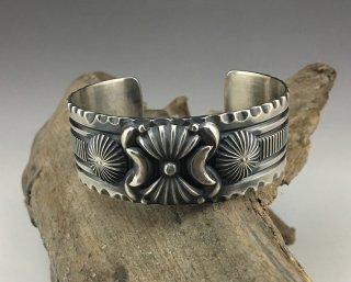 Navajo Delbert Gordon Silver Cuff Bracelet
