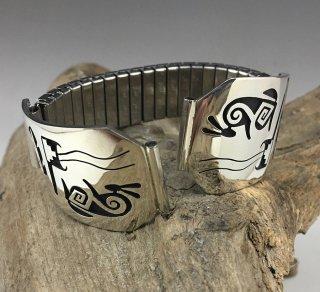 Hopi Mitchel Sockyma Overlay Watch Band