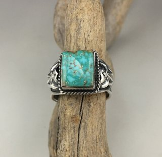 Navajo Darrell Cadman Turquoise Mountain Turquoise Ring