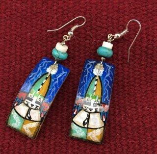 Hopi Lavell Mahle Gourd Earrings