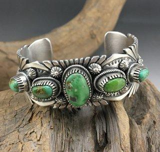 Navajo Raymond Bennett Carico Lake Turquoise Cuff Bracelet