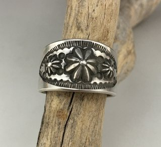 Navajo Edison Sandy Smith Stamp Ring