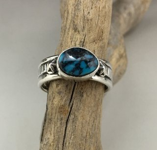 Navajo Steve Arviso Cloud Mountain Turquoise Ring