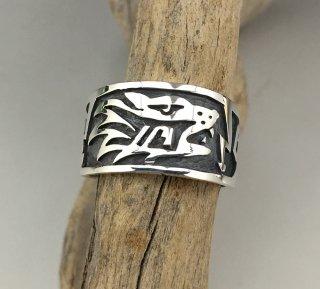 Hopi Pat Tewawina Overlay Ring