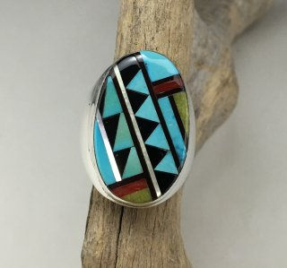 Zuni Filmer Lalio Mosaic Inlay Ring