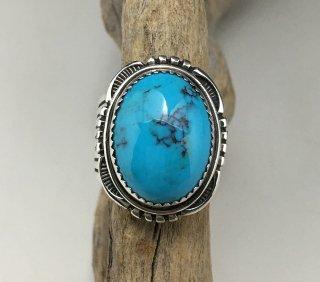 Navajo Will Denetdale Kingman Turquoise Ring
