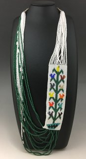 Navajo Rena Charles Tree Of Life Rug Pattern Beaded Necklace
