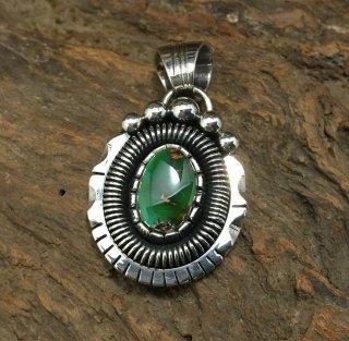 Navajo Derrick Gordon Royston Turquoise Pendant