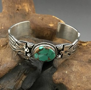 Navajo Andy Cadman Royston Turquoise Cuff Bracelet