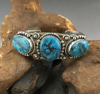 Navajo Fritson Toledo Ithaca Peak Turquoise Cuff Bracelet