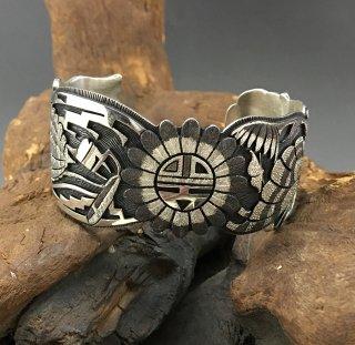Hopi Bennett Kagenvema Overlay Cuff Bracelet