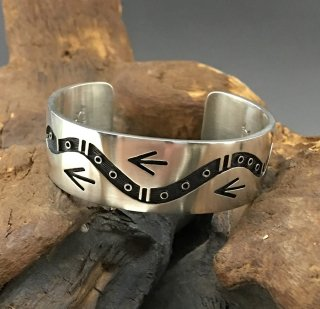Hopi Weaver Selina Overlay Mini Cuff Bracelet