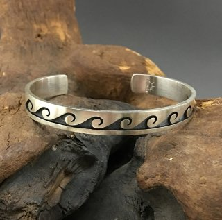 Hopi Weaver Selina Overlay Cuff Bracelet