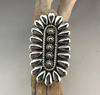 Navajo Thomas Jim Silver Cluster Ring
