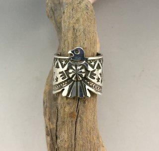 Navajo Darrell Cadman Thunderbird Ajustable Ring