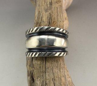 Navajo Aaron Anderson Tufa Cast Ring