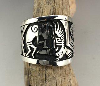Hopi Berra Tawahongva Overlay Ring