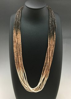 Santo Domingo Ramona Bird 10 Strand Shell Necklace