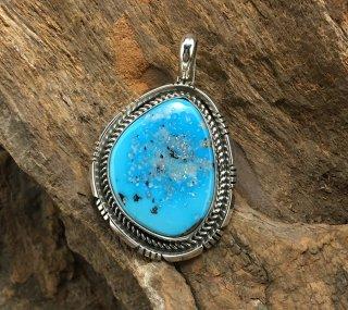 Navajo Fred Peters Ithaka Peak Turquoise Pendant