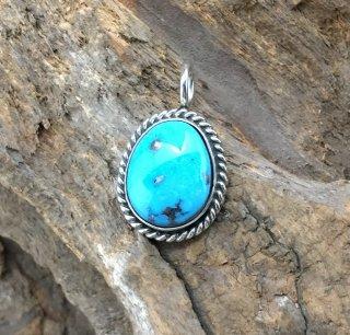 Navajo Robin Tsosie Ithaka Peak Turquoise Pendant