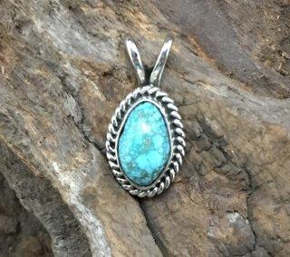 Navajo Robin Tsosie Number Eight Turquoise Pendant
