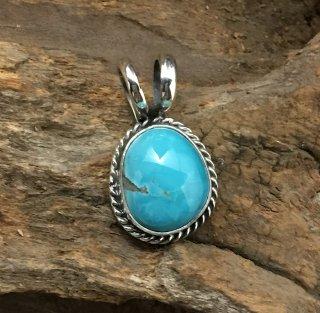 Navajo Robin Tsosie Darling Darlene Turquoise Pendant