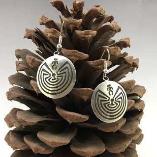 Hopi  Danielle Wadsworth Man In The Maze Earrings