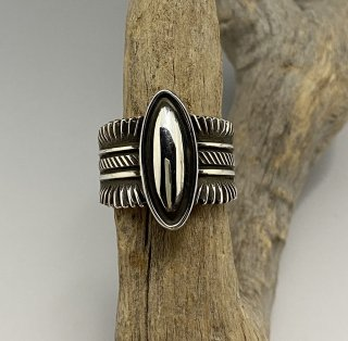 Navajo Ron Bedonie Silver Ring