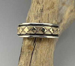 Navajo Bruce Morgan 14K & Silver Ring