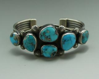Navajo Vivian Barbone 6 Ithaca Peak Duvall Kingman Turquoise Bracelet