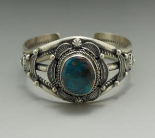 Navajo Emma Linkin Bisbee Turquoise Bracelet