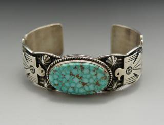 Navajo Andy Cadman Number Eight Turquoise Bracelet
