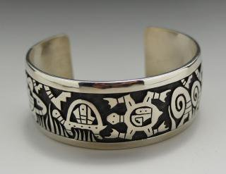 Hopi Duane Koinva Overlay Bracelet