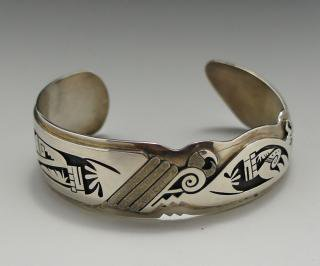 Hopi Berra Tawahongva Overlay Bracelet