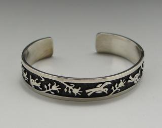 Hopi Raymond Kyasyousie Overlay Bracelet