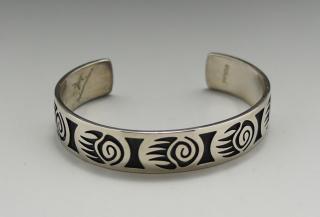 Hopi Arther Allen Lomayestewa Overlay Bracelet