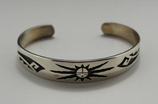 Hopi George Phillips Overlay Bracelet