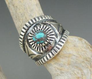 Navajo Harrison Jim Bisbee Turquoise Ring