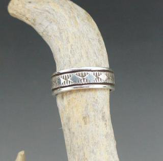 Navajo Bruce Morgan Silver Ring