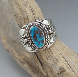 Navajo Fritson Toledo Natural Candelaria Turquoise Ring