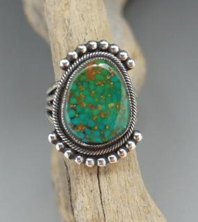 Navajo Leon Martinez Natural Royston Turquoise Ring