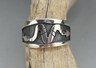 Hopi Todd Hoyungwa Snake Overlay Ring