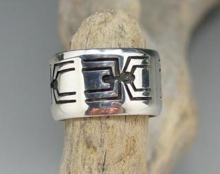 Hopi Raymie Namingha Spider Overlay Ring