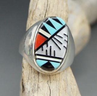 Zuni Cleo Kallestewa Inlay Ring